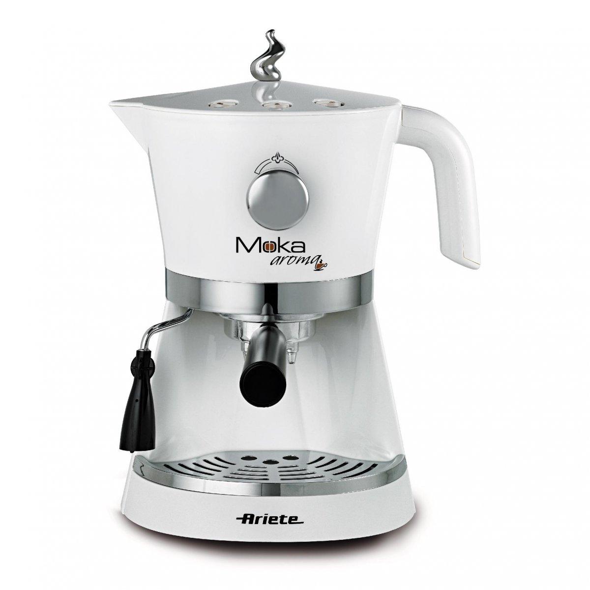Ariete moka aroma espresso bianca ariete for Ariete elettrodomestici