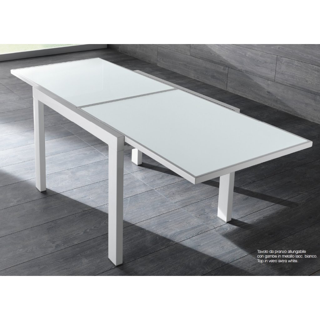 Stones tavolo nuovo banner 1 quadrato allungabile vetro for Tavolo quadrato allungabile vetro