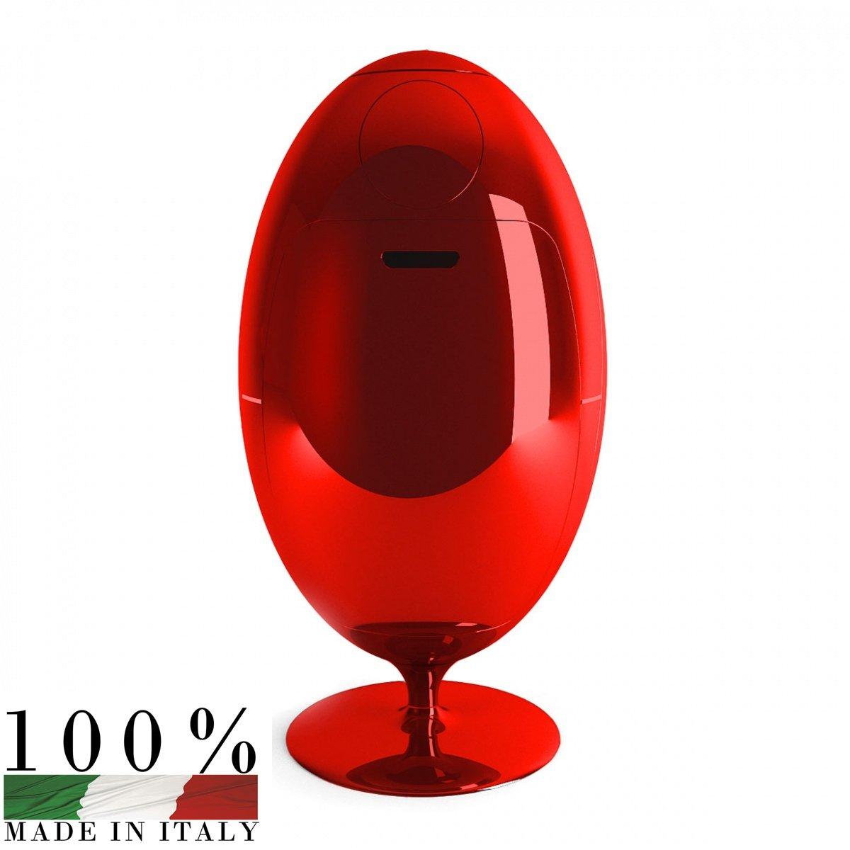 Wohnzimmer und Kamin design heizkörper küche : Soldi Design: OVETTO schimmerndem Rot ABFALLEIMER Soldi ...