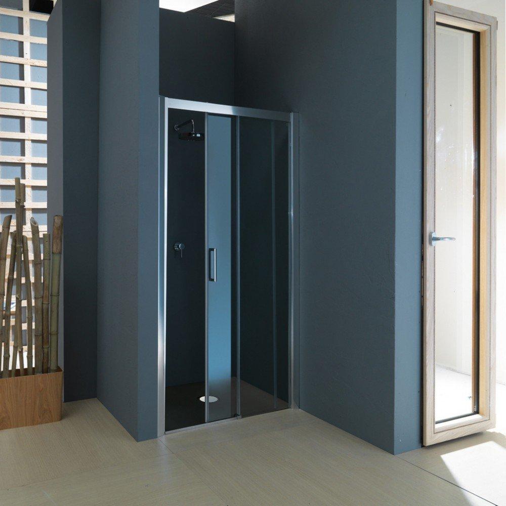 Tamanaco box doccia nicchia porta scorrevole psc55 - Porta scorrevole bagno ...