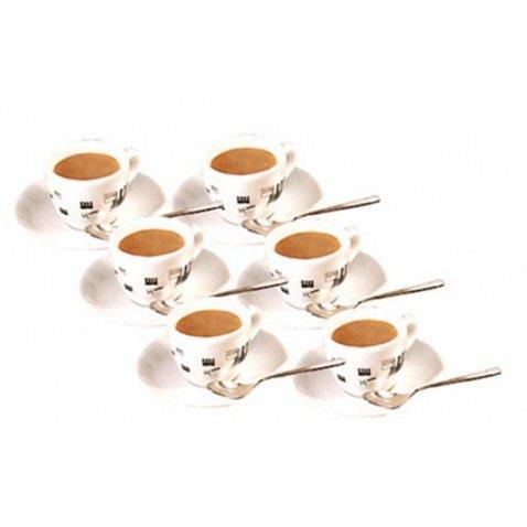 La Pavoni SET SEI TAZZINE CAFFÈ CON PIATTINI LA PAVONI