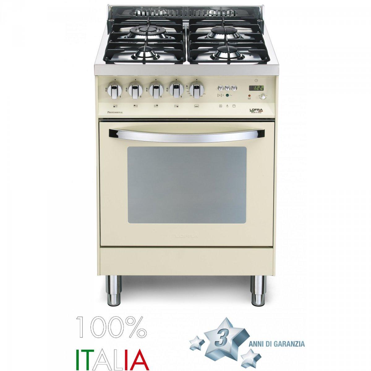 Lofra cucina rainbow 60 avorio forno a gas 4 fuochi pbi66gvtc lofra elettrodomestici cucine - Elettrodomestici cucina a gas ...