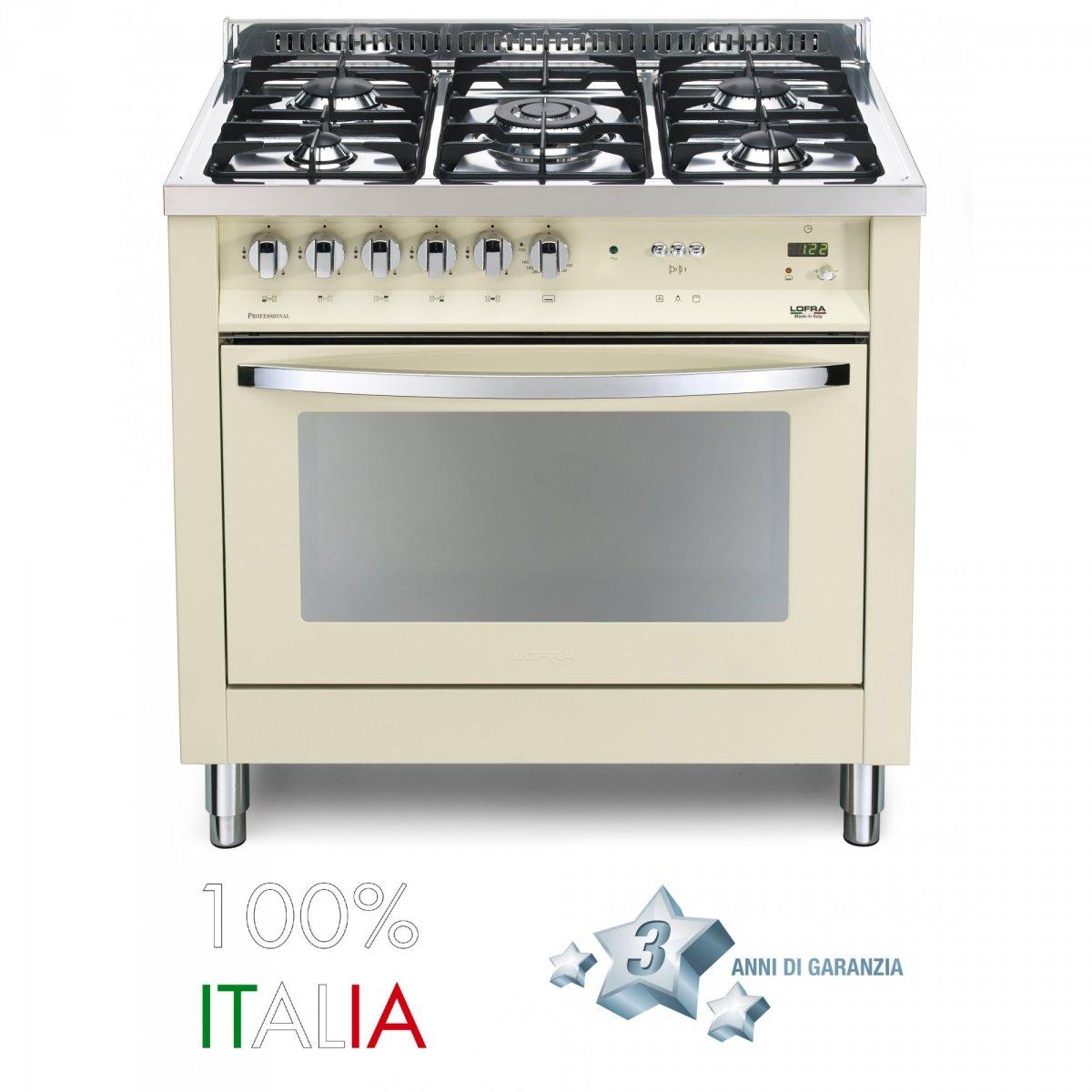 Lofra cucina rainbow 90 avorio 5 fuochi forno a gas pbig96gvtc lofra elettrodomestici cucine - Elettrodomestici cucina a gas ...