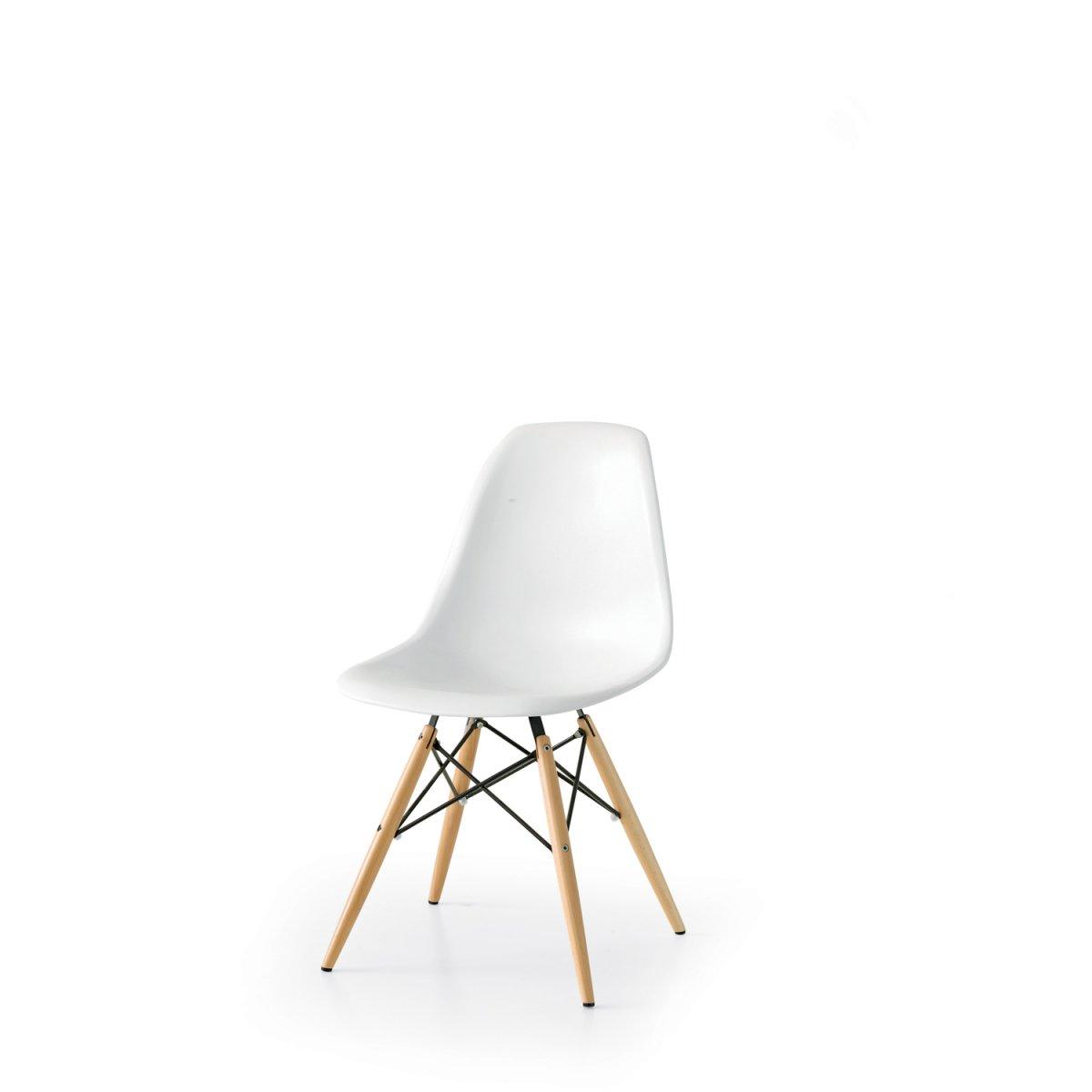 Storm sedia lilian gambe legno e metallo seduta for Sedie polipropilene bianche