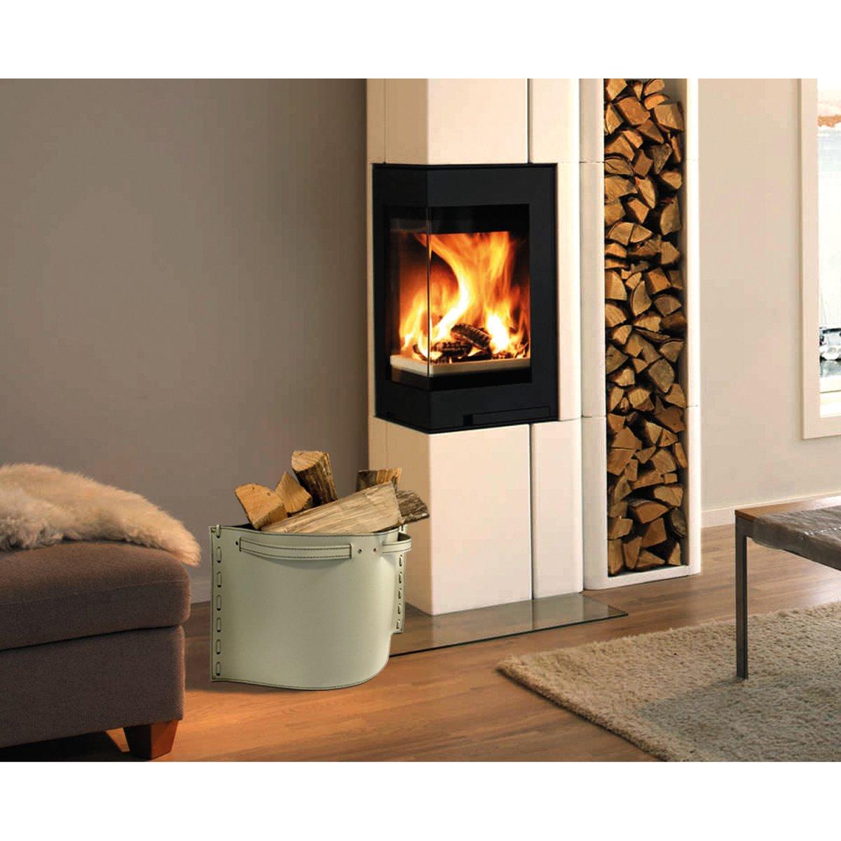 Morandin design contenitore porta legna in cuoio daisy for Cesti porta legna ikea