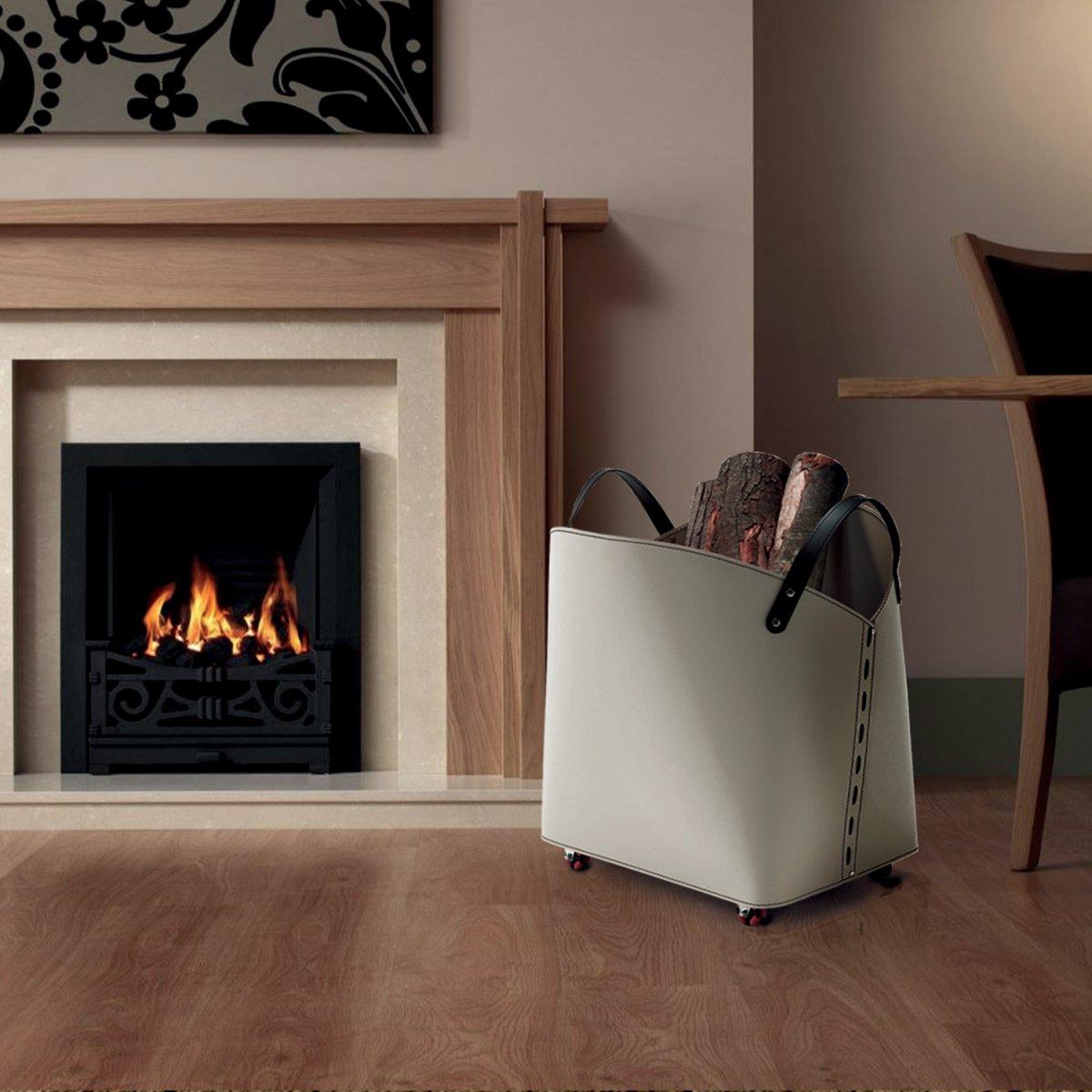 Morandin design sacca porta legna in cuoio snowflake for Portalegna da interno ikea