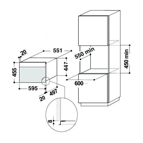 Whirlpool forno combinato vapore amw599ixl whirlpool elettrodomestici forni incasso - Forno combinato whirlpool da incasso ...