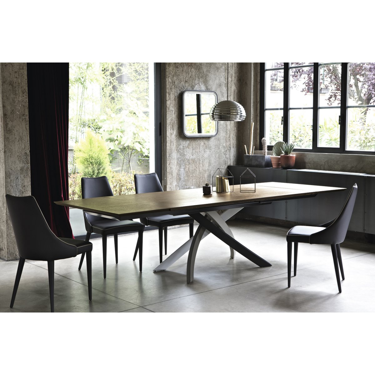 Bontempi Casa Artistico Ausziehbarer Tisch 160x90 Holz Bontempi