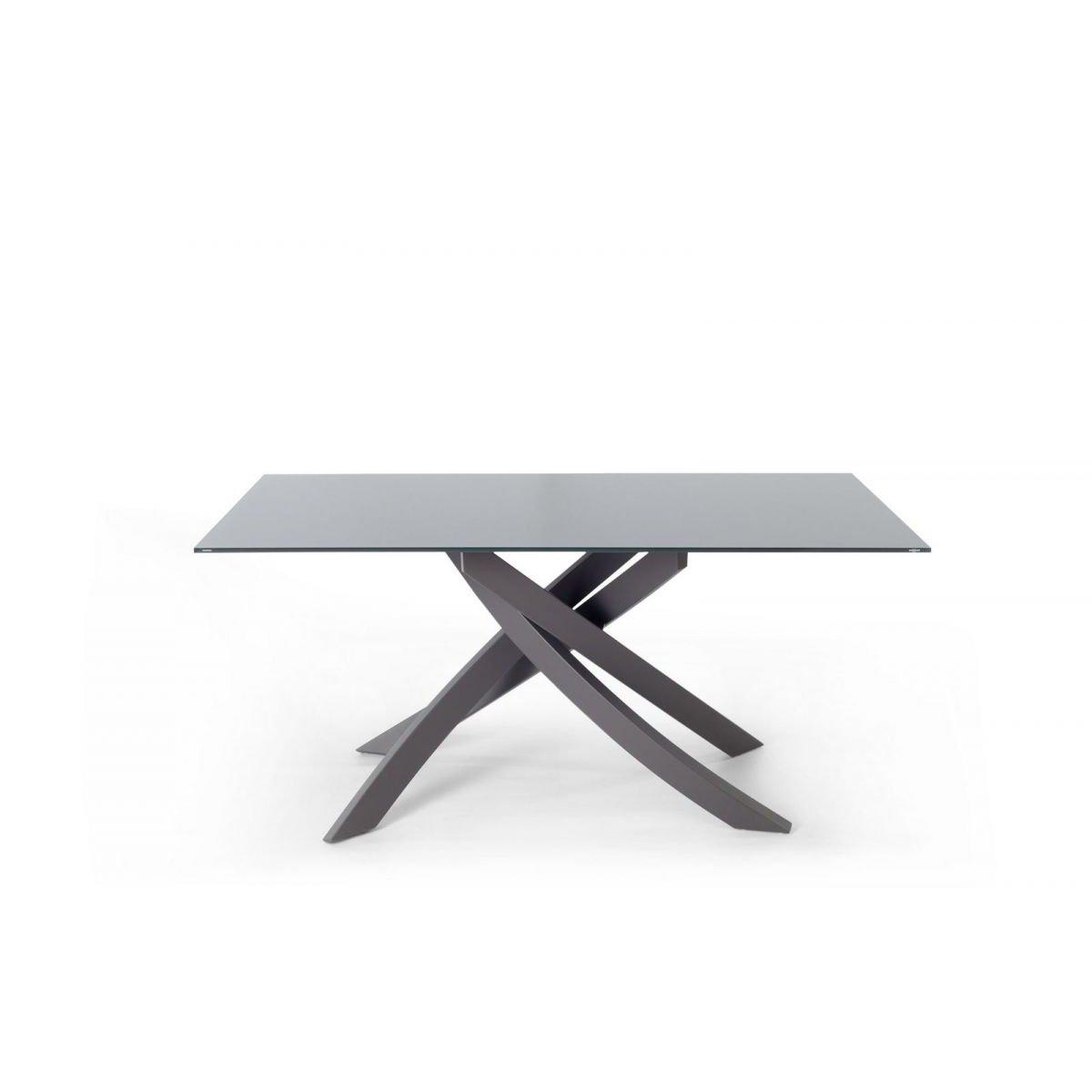 Bontempi Casa ARTISTICO Tisch 180X106 KRISTALLGLAS/LACKIERT
