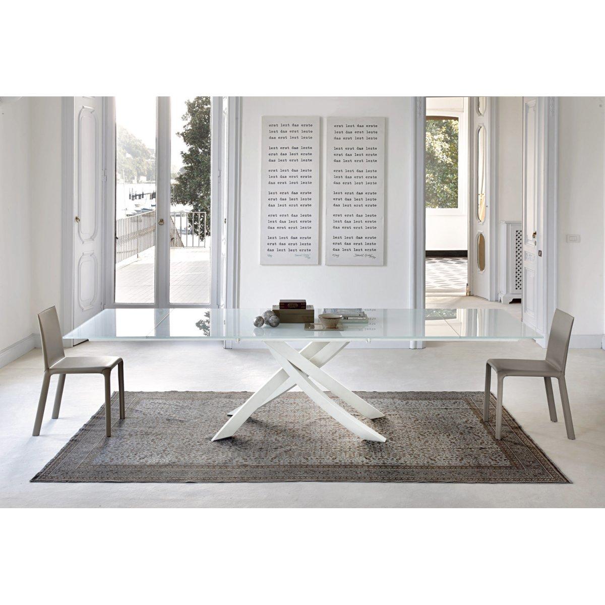 Bontempi Casa ARTISTICO Tisch 250X106 KRISTALLGLAS/LACKIERT