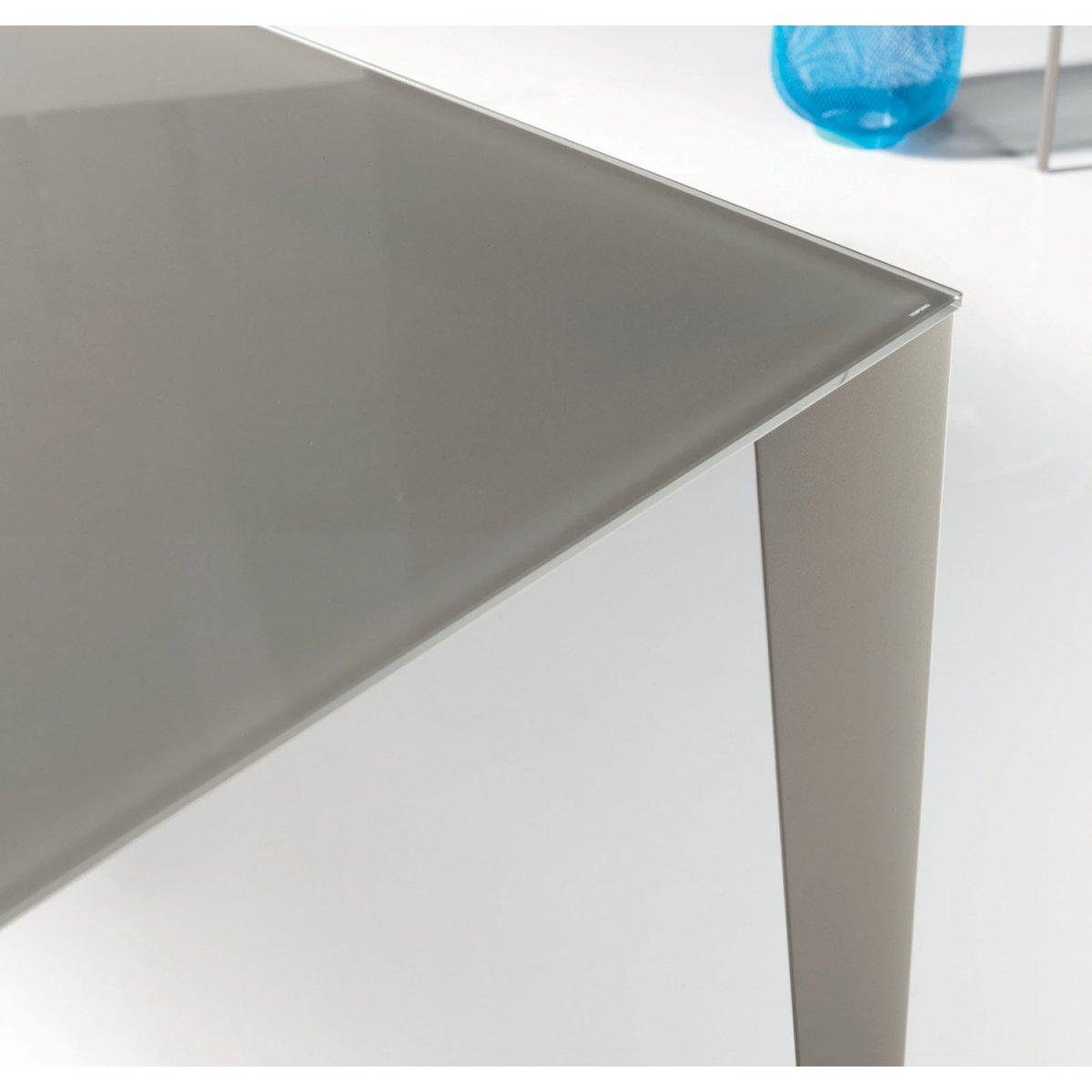 Tavolo Bontempi Cristallo Allungabile.Bontempi Casa Tavolo Cruz Allungabile Rettangolare 120 X 80 Vetro