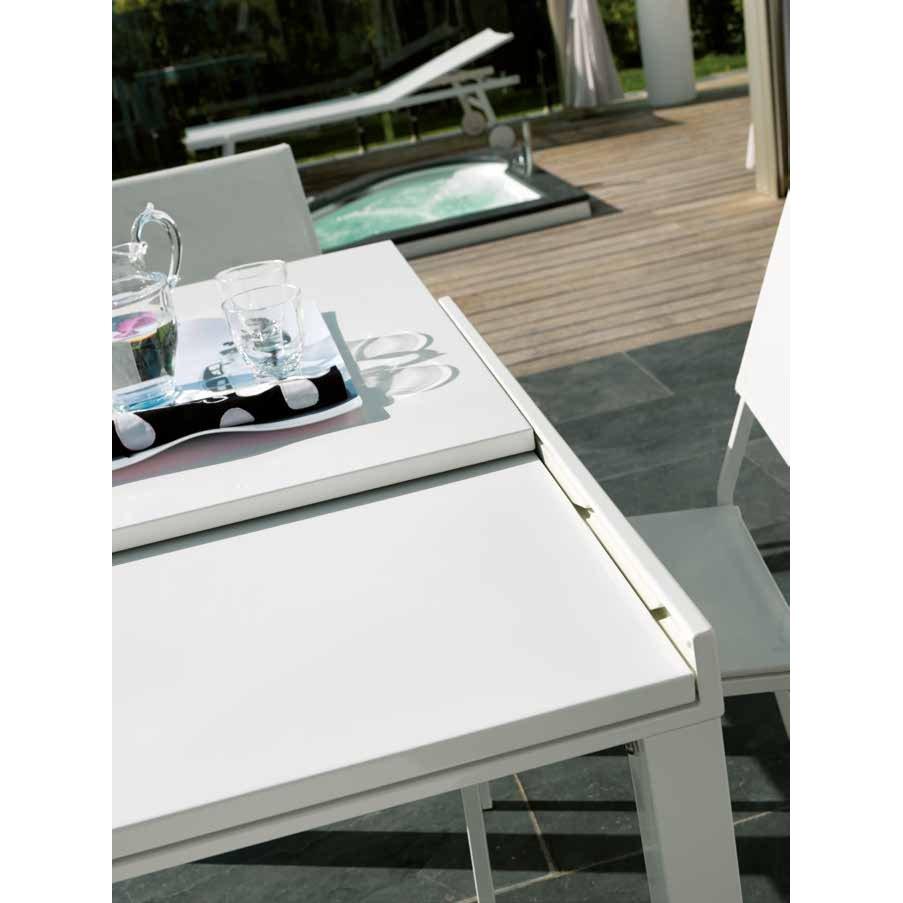 Tavolo 100 X 70 Allungabile.Vermobil Tavolo Da Giardino Sofy Allungabile Rettangolare Metallo