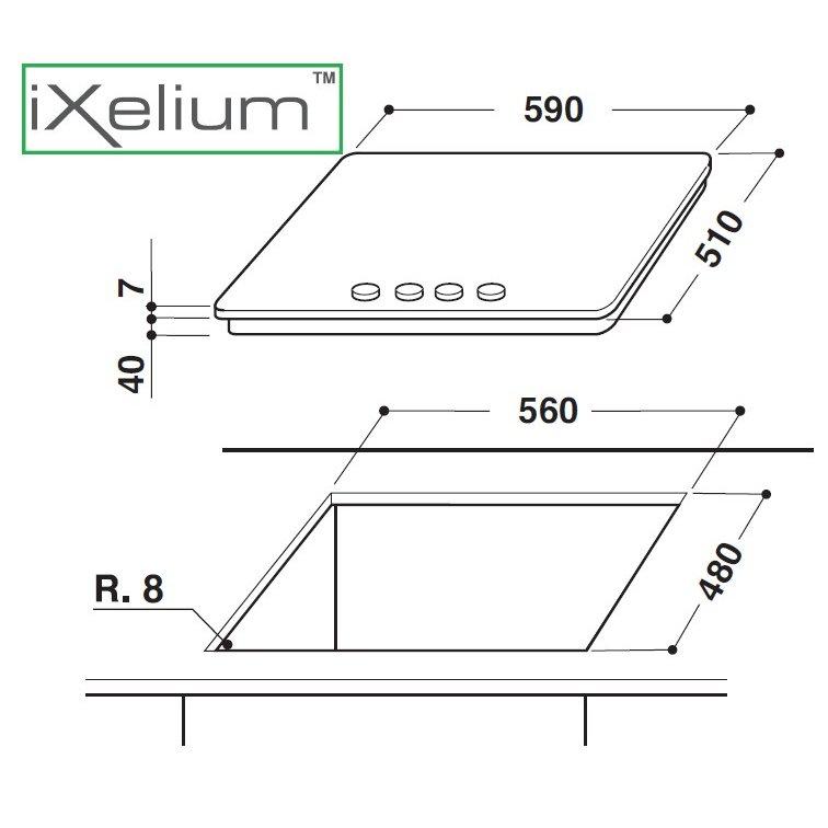 Whirlpool piano cottura linea ambient ixelium gma6421ixl for Costo ascensore esterno 4 piani