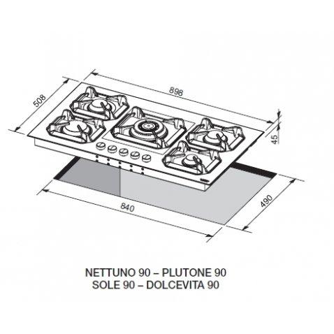 Lofra piano cottura sole 90 hls9u0 lofra for Costo ascensore esterno 4 piani
