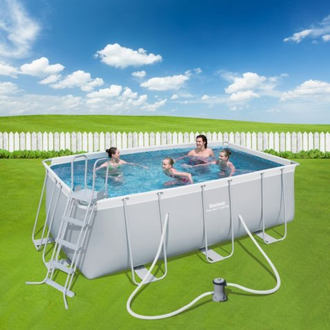 Bestway piscina rettangolare power steel 412x201x122 for Bestway piscine e accessori