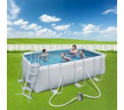 Bestway PISCINA RETTANGOLARE POWER STEEL 412x201x122 (56456)