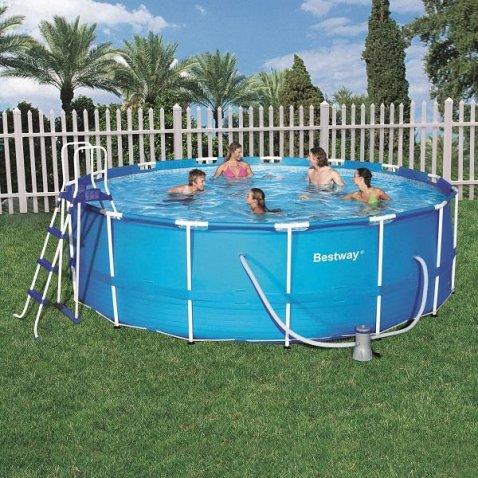 Bestway piscina rotonda steel pro frame 457x122 h 56438 for Bestway piscine e accessori