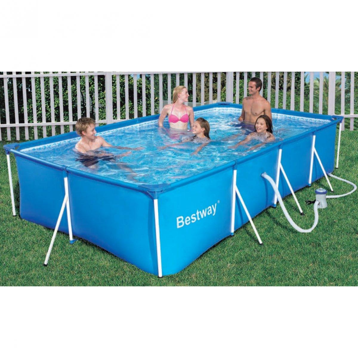 Bestway piscina rettangolare 400x211x81 56082 bestway for Bestway piscine e accessori