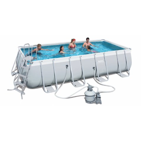 Bestway piscina bestway power steel frame rettangolare for Bestway piscine e accessori
