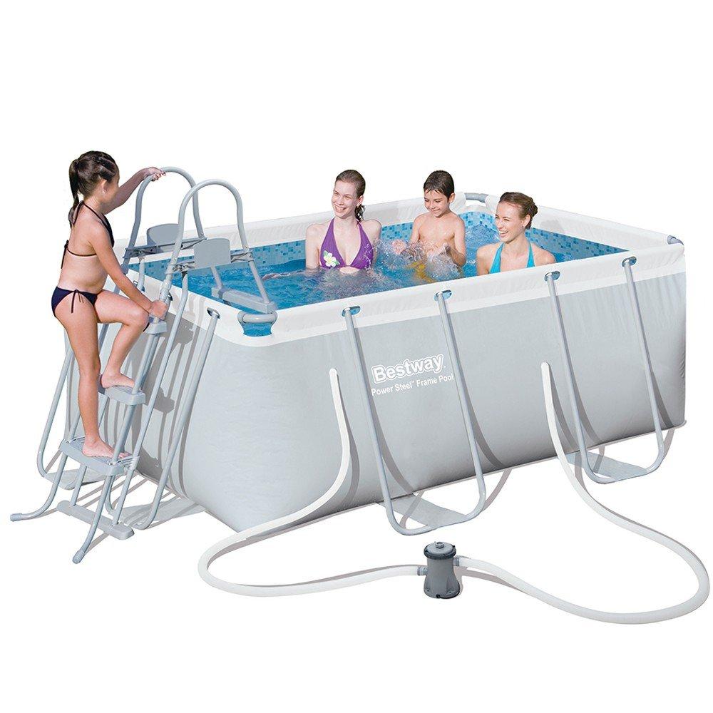 Bestway piscina power steel frame rettangolare for Bestway piscine e accessori