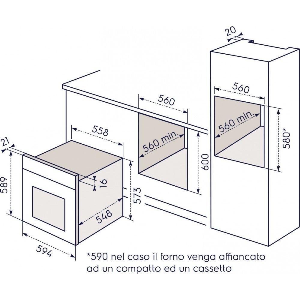 Electrolux-Rex FORNO INFISPACE LINEA QUADRO FQ13N