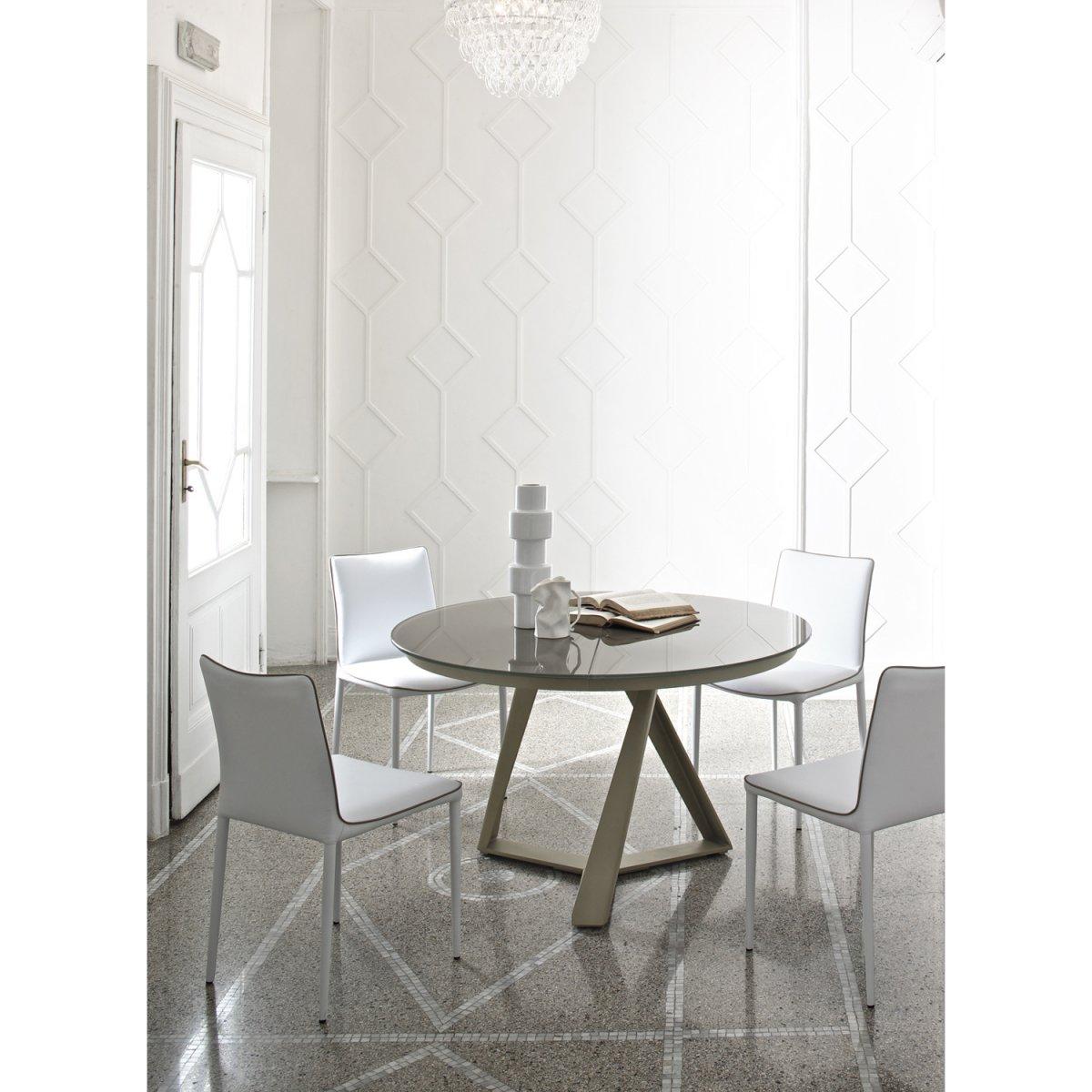 Bontempi casa tavolo millennium allungabile 125x75 cristallo laccato bontempi casa tavoli e - Tavolo cristallo allungabile ...