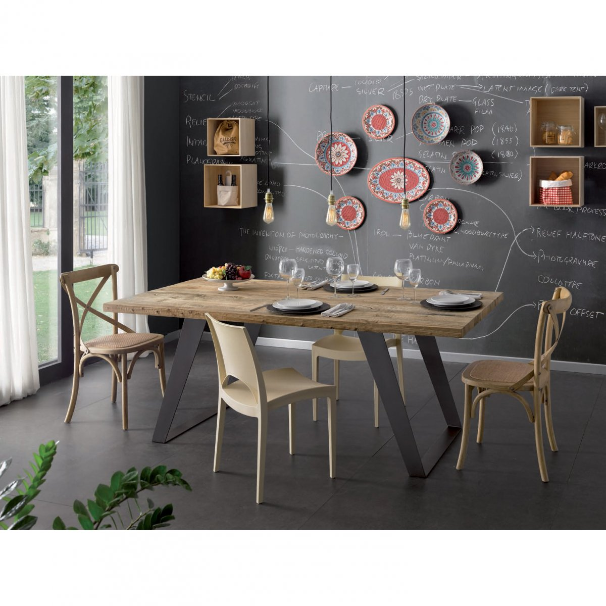 Keihome Nature Tavolo rettangolare legno 200 x 100