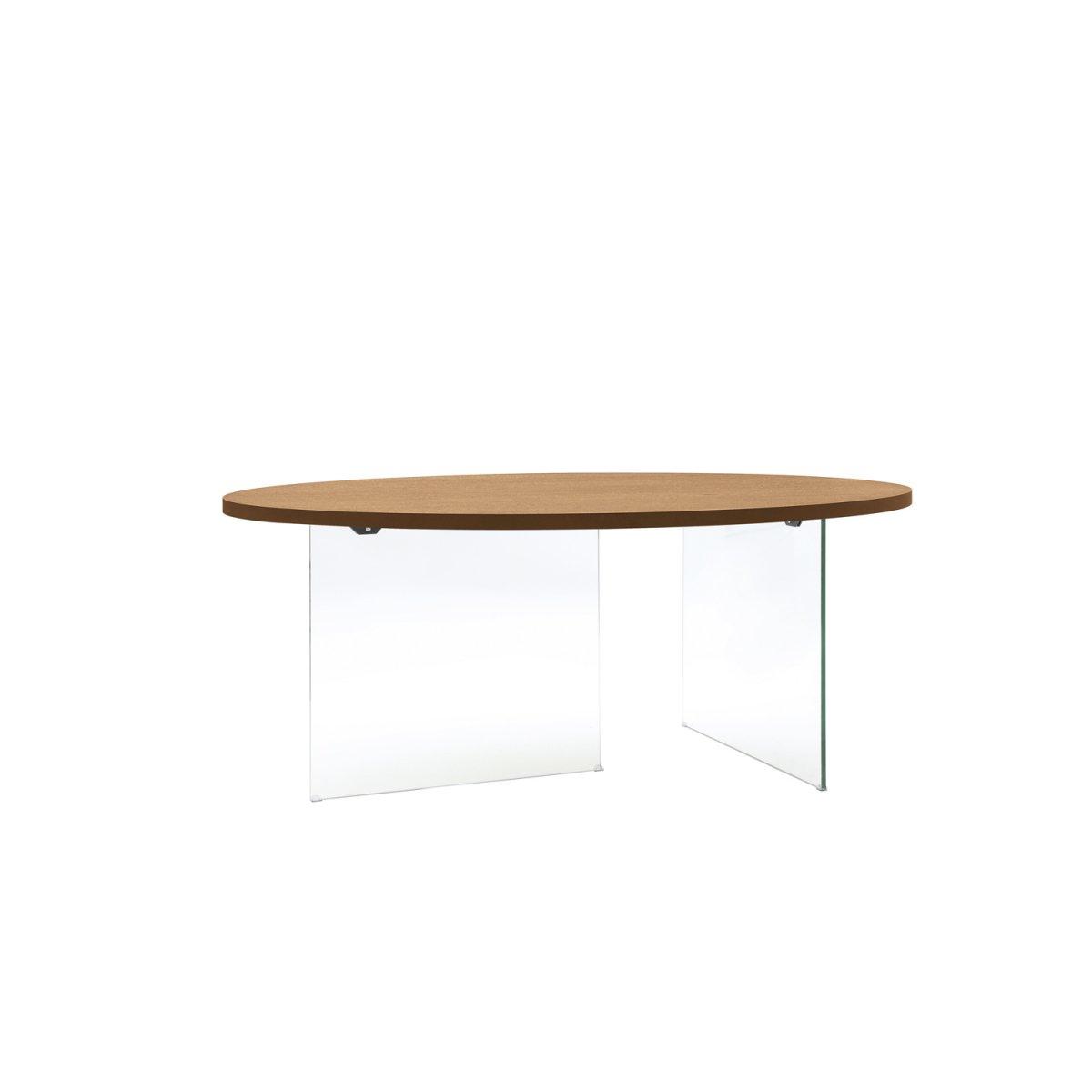 Loft tavolo ovale rovere e cristallo lf135 loft tavoli e sedie tavoli - Tavolo cristallo ovale ...