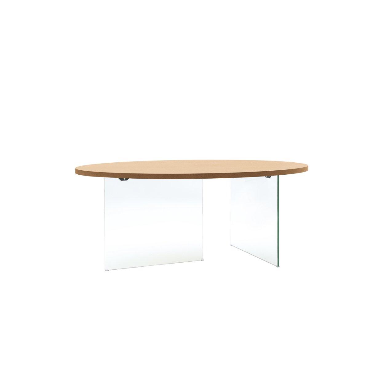 Loft tavolo ovale rovere e cristallo lf135 loft tavoli e sedie tavoli - Tavolo in cristallo ovale ...