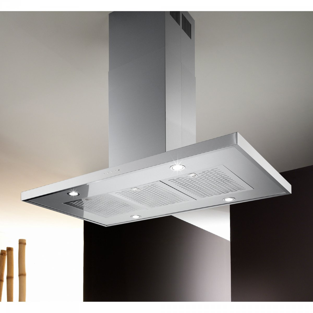 Airone: Cappa Slim Isola 120 Airone | elettrodomestici - cappe