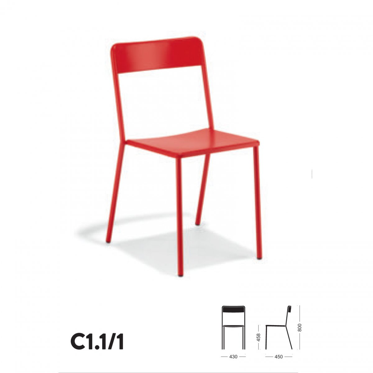 Tavoli In Plastica Impilabili.Colos Sedia C1 1 1 Impilabile In Metallo Colos Tavoli E Sedie