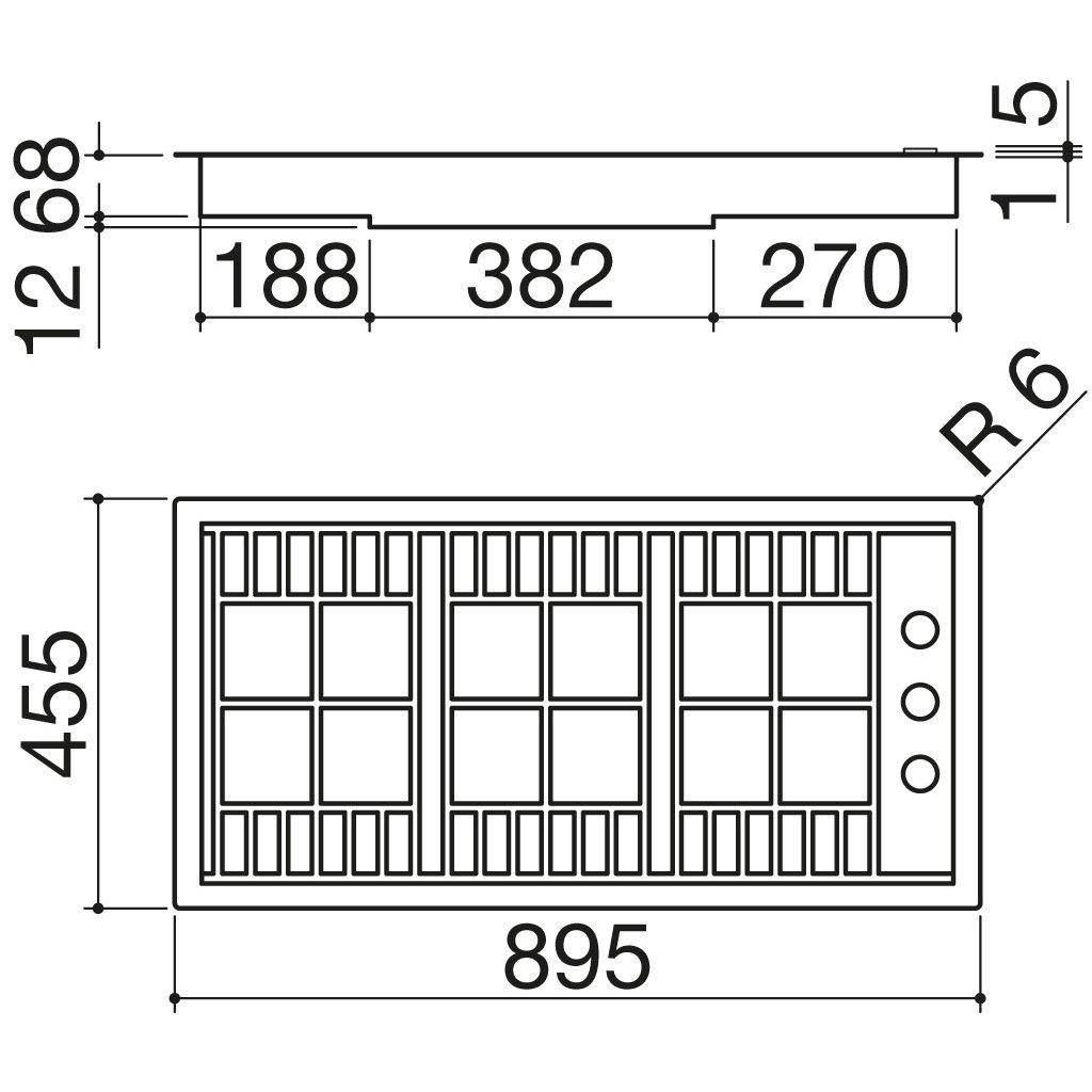 Barazza piano cottura lab incasso e filo 90 1plb2ti for Costo ascensore esterno 4 piani