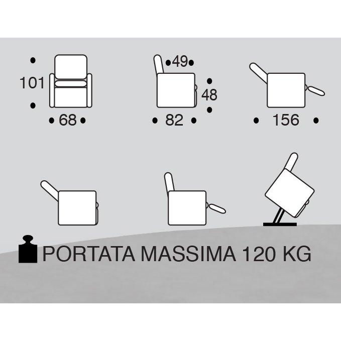 Vitarelax POLTRONA RELAX LIFT PINTA