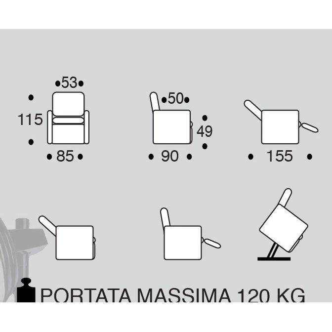 Vitarelax POLTRONA RELAX LIFT ROMY PELLE LUX E MASSAGGIO SHIATSU
