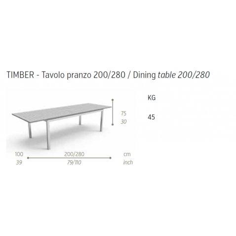 Tavoli In Legno Da Giardino Allungabili.Talenti Tavolo Da Giardino Timber Allungabile Rettangolare Legno