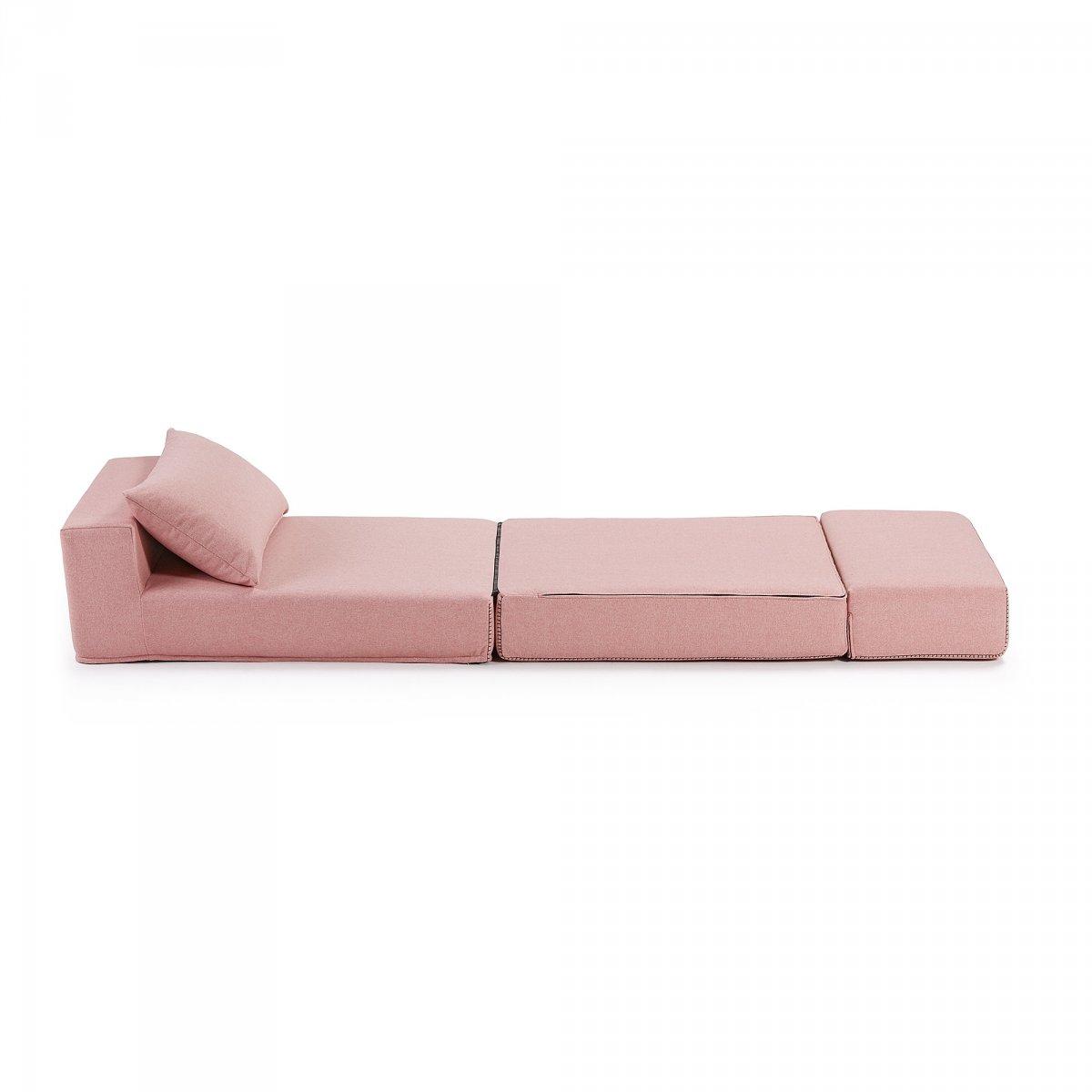 Keihome Linea J Pouf Letto ARTY tessuto rosa