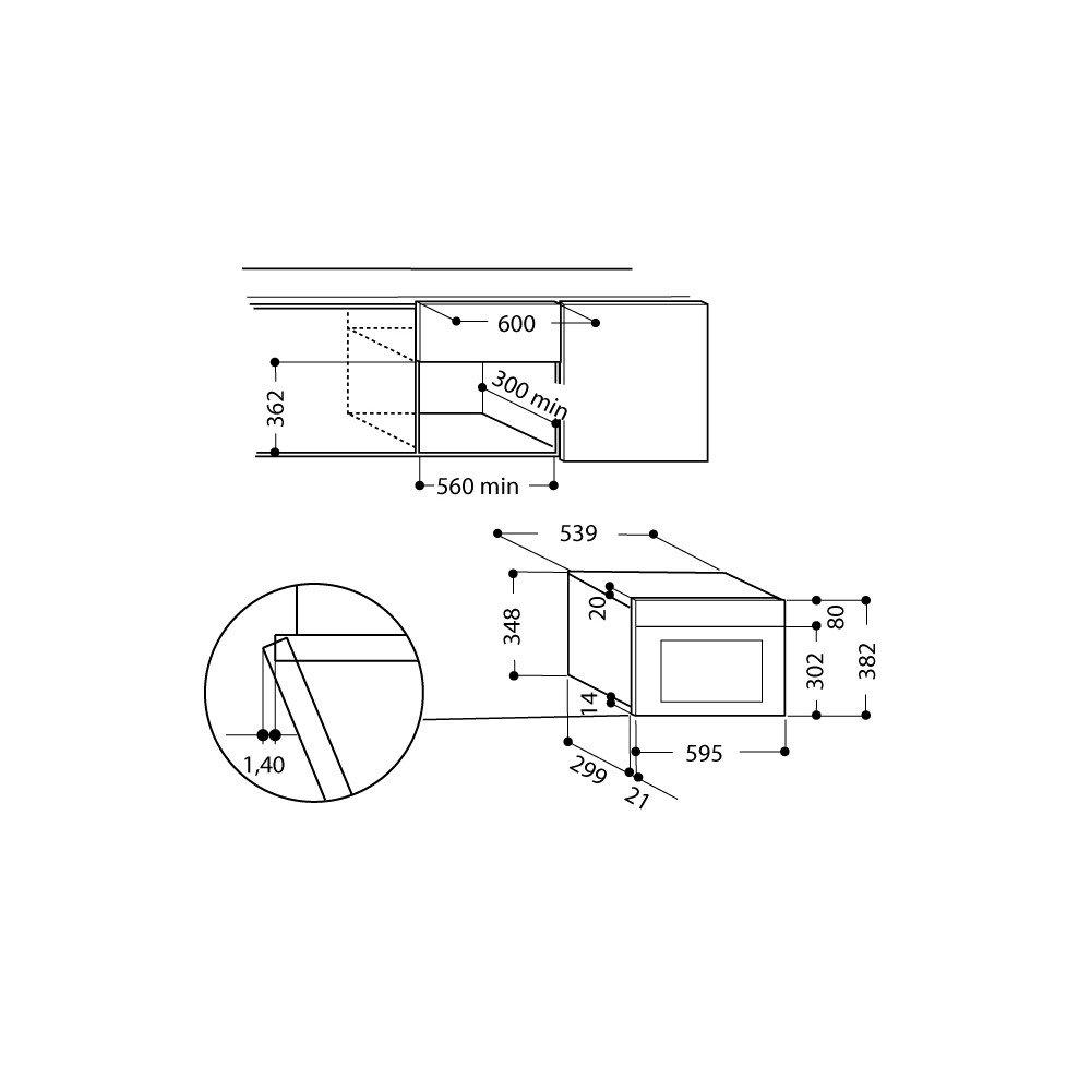 Hotpoint ariston forno microonde class 3 mn314ixha hotpoint ariston elettrodomestici - Forno microonde incasso ariston ...
