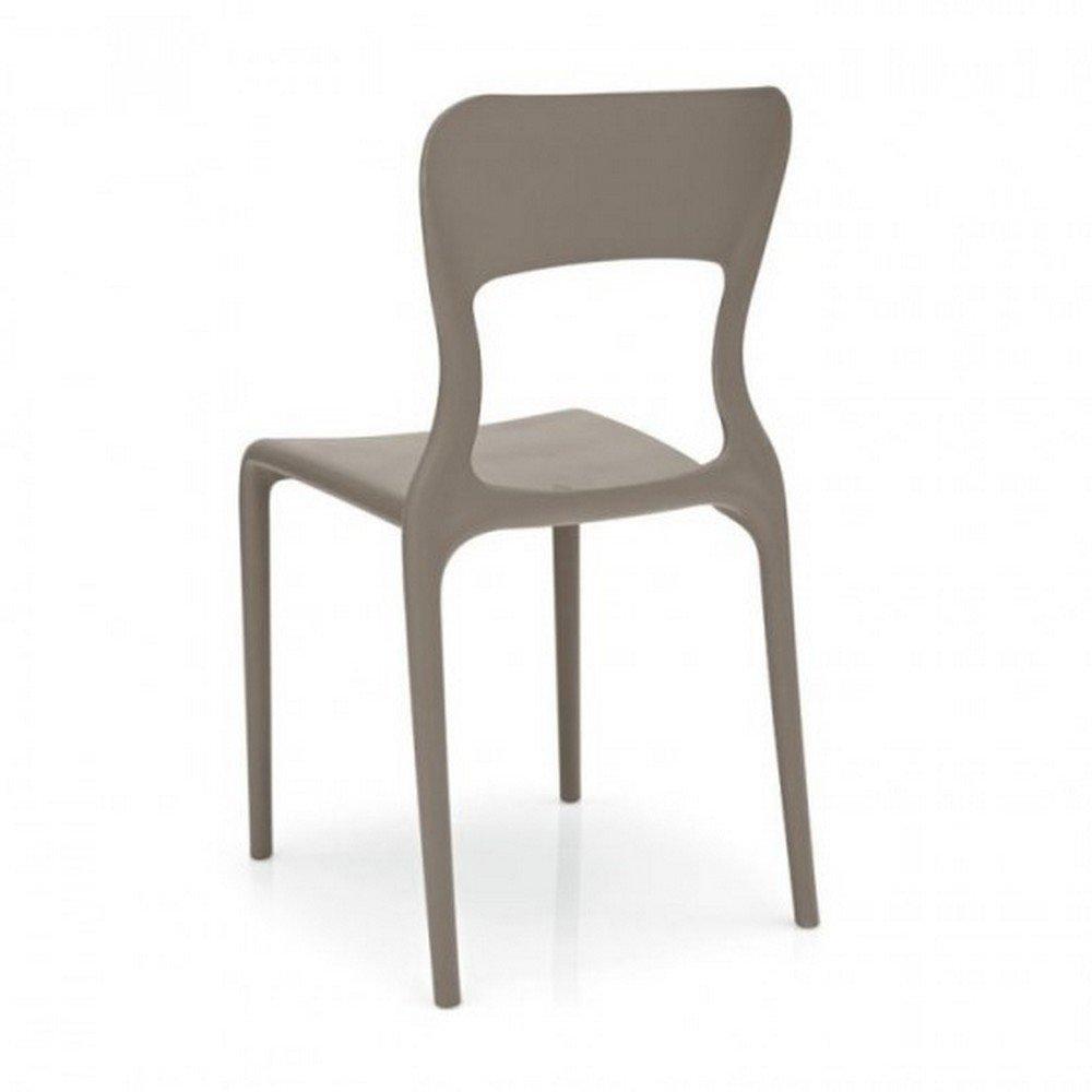 Sedie In Polipropilene Da Giardino.Connubia By Calligaris Sedia Helios Impilabile In Polipropilene