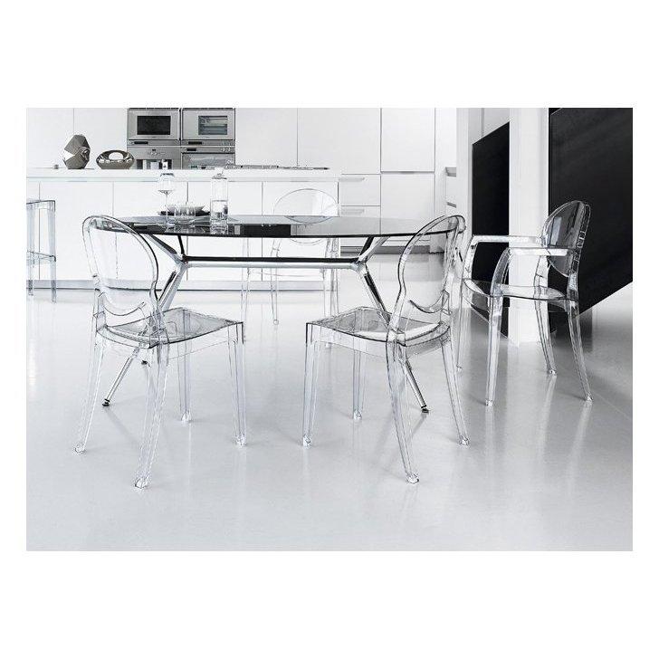 Tavolo E Sedie Trasparenti.Scab Design Sedia Igloo Chair Trasparente Ignifuga Policarbonato