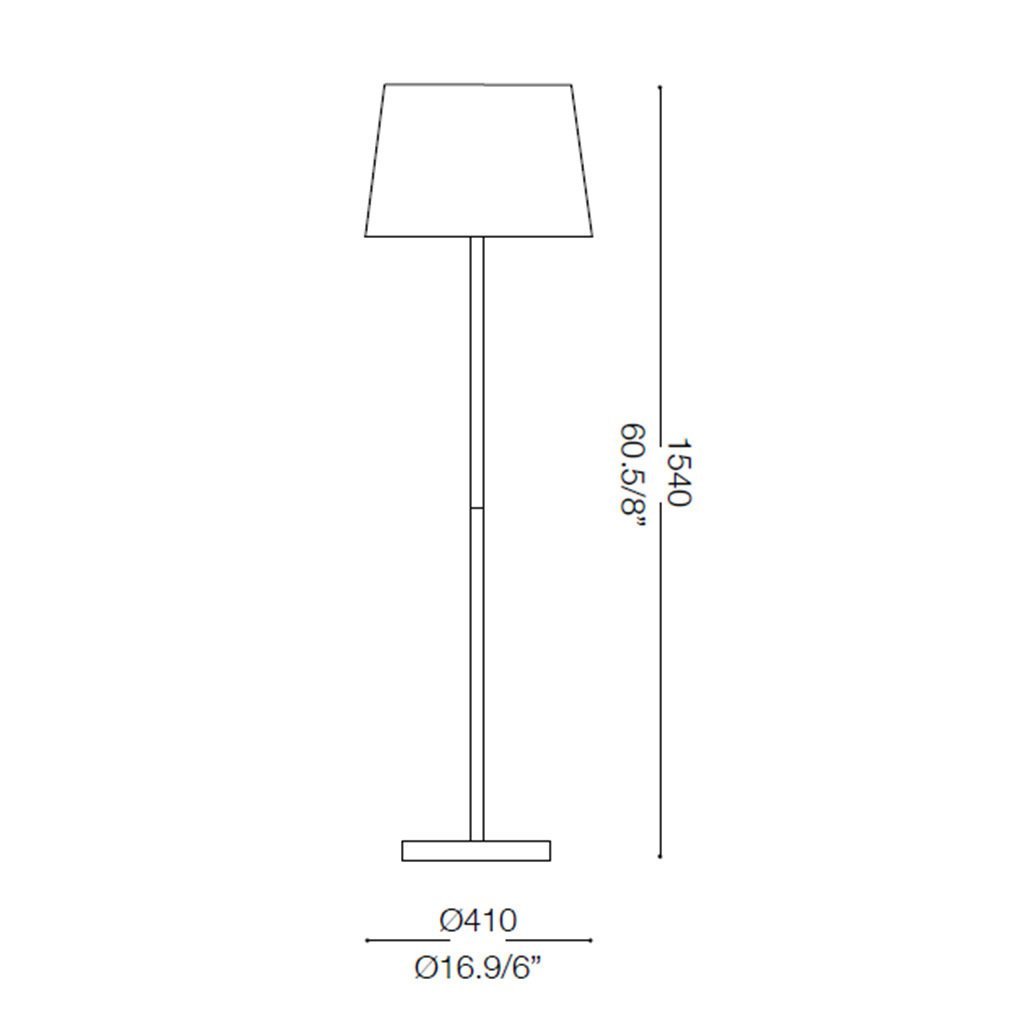 Ideal Lux BASKET PT1 LAMPADA A TERRA PANNA 1 LUCE
