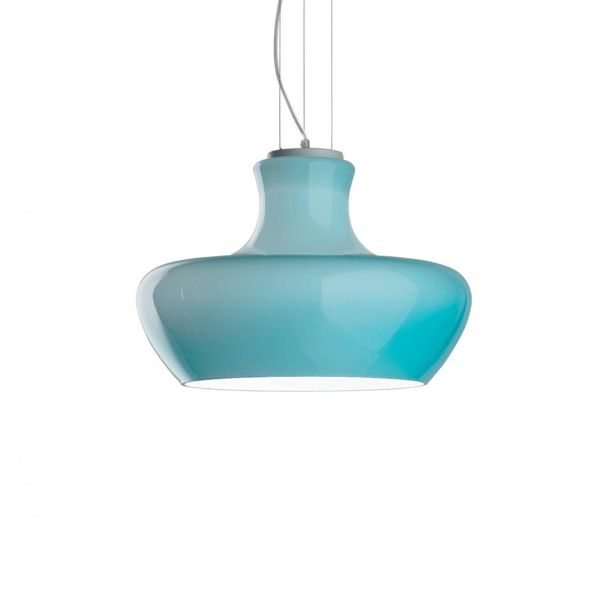 Ideal Lux ALADINO SP1 D45 AZZURRO LAMPADA A SOSPENSIONE 1 LUCE