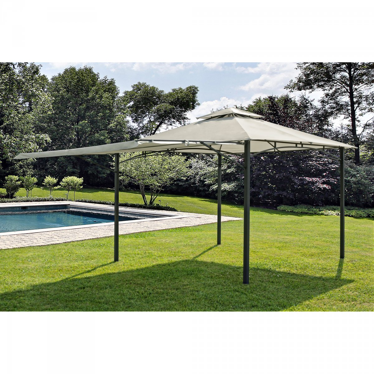 Bizzotto Yes Everyday GAZEBO COLORADO CON VERANDA 3,35 X 3,35 M