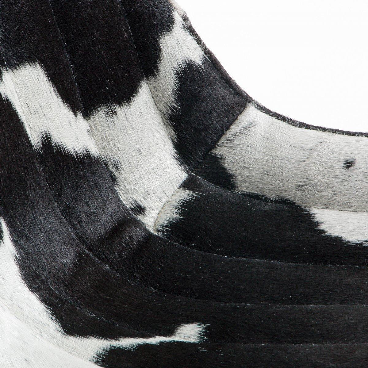 Keihome Linea J TRENT Sedia metallo pelle nero bianco