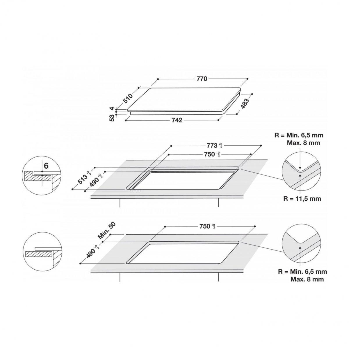 Whirlpool PIANO COTTURA INDUZIONE SMART COOK SMC774FBTIXL