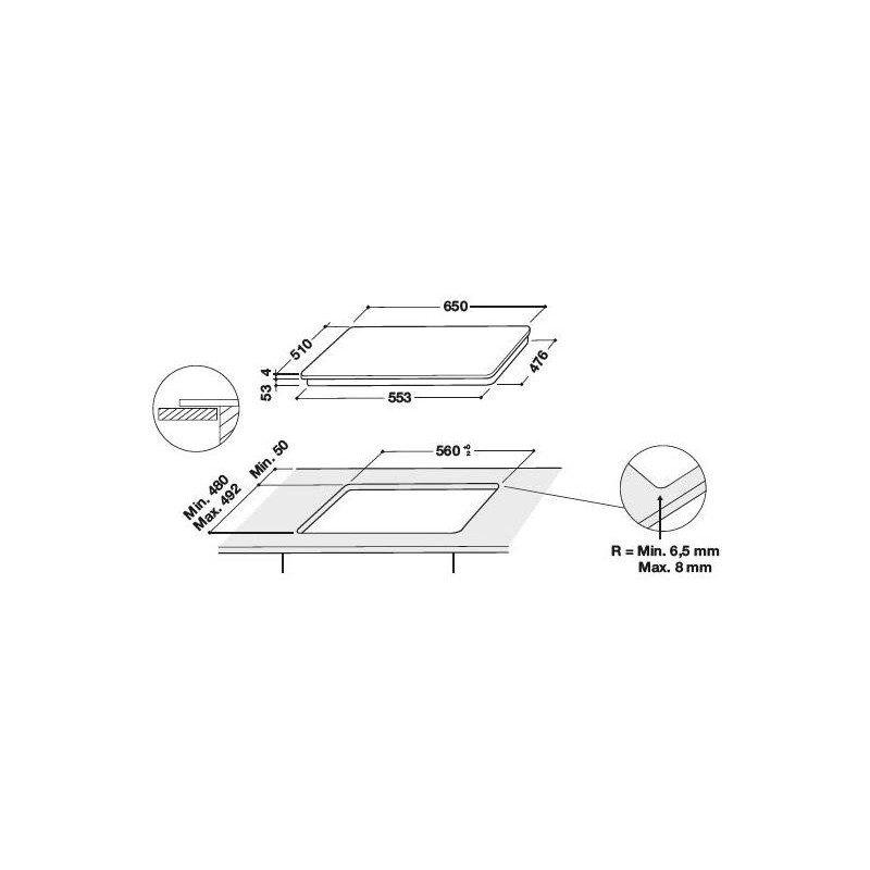 Whirlpool PIANO COTTURA INDUZIONE SMART COOK SMO564OFBTIXL