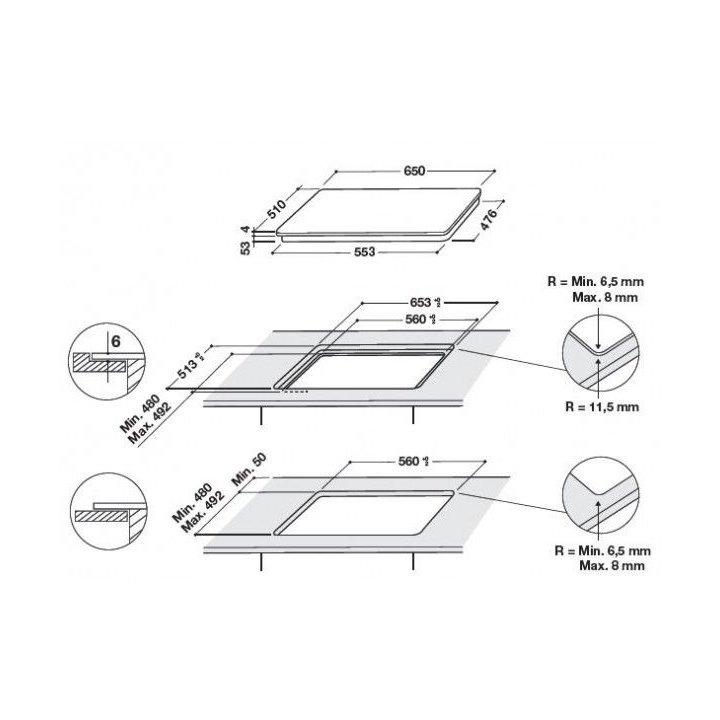Whirlpool piano cottura induzione smart cook smp658cneixl for Costo ascensore esterno 4 piani