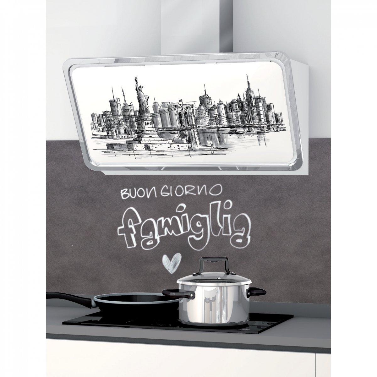 Coolors CAPPA PARETE ARTSKYLINE NY GREY 90