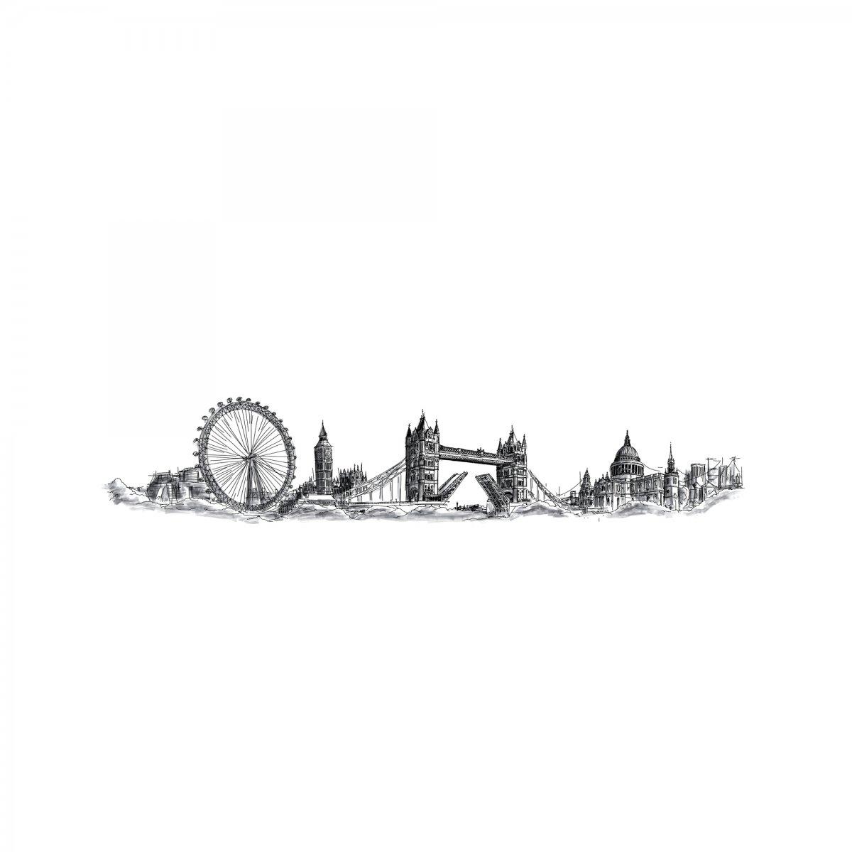 Coolors Pannello ART SKYLINE LONDRA ALTO L405