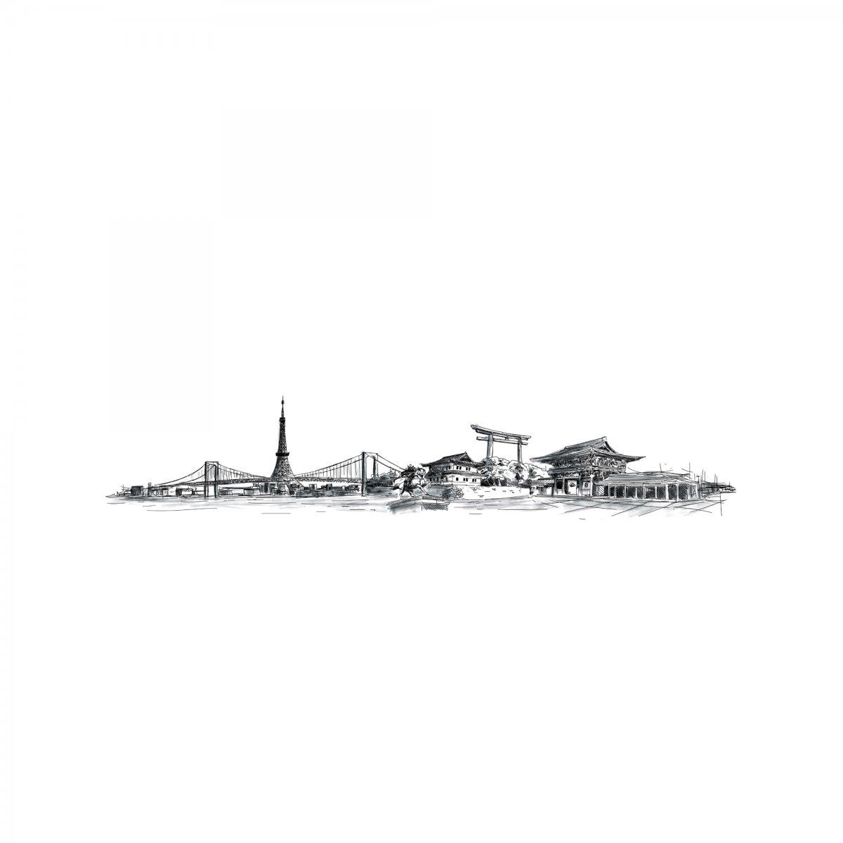 Coolors Pannello ART SKYLINE TOKYO ALTO L405