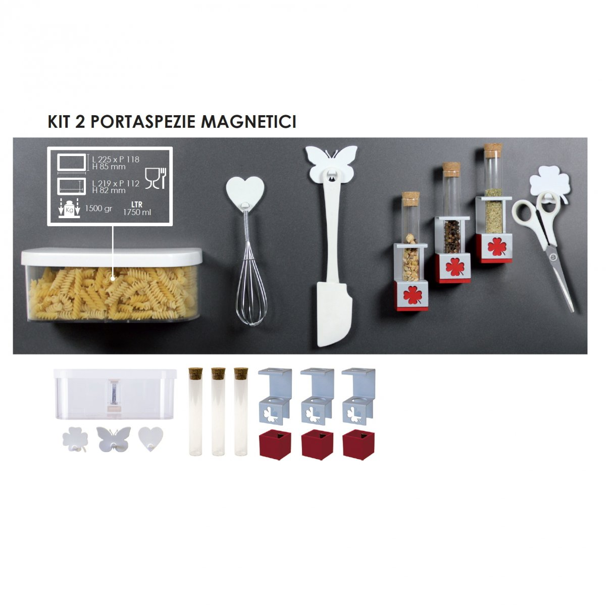 Coolors KIT 2 PORTASPEZIE MAGNETICI PER PANNELLI COOLORS